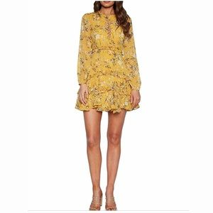 🎈COMING SOON!🎈YELLOW Floral Long Sleeve Dress